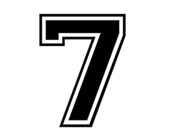 iron on number # 7 for tshirt, instant download