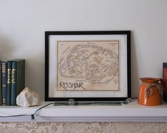 Map of Roshar from the Stormlight Archive: Aged, Handmade, Hand drawn, Authentic gifts