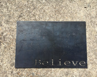 Believe Magnet Board Wall Decor