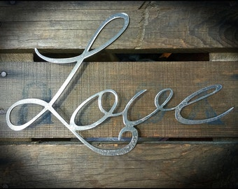 Rustic Love Metal Sign