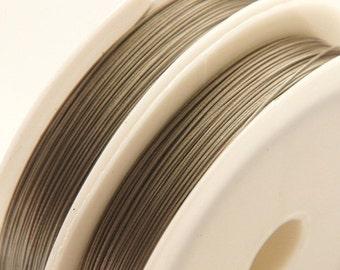 90m jewelry wire / Ø 0, 35 mm / silvergrey