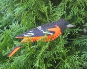 Baltimore Oriole Felt Bird Ornament