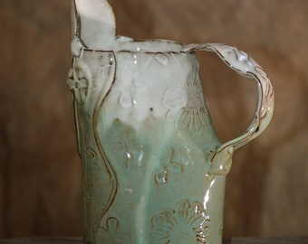 Green and Cream Pitcher