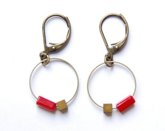 Collection round Point - red brass