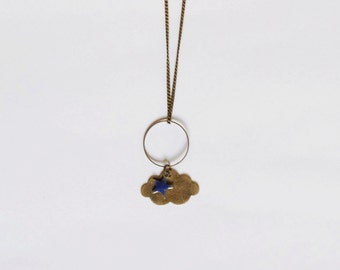 Collection head in the clouds necklace purple cloud
