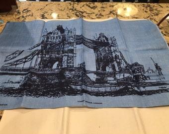 Vintage Irish Linen Tea Towel of London by Neil Forester