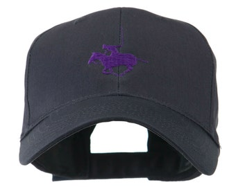Polo Player Sports Embroidered Cap