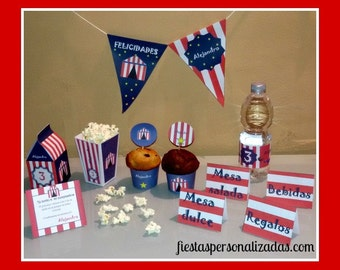 Child model circus birthday party Kit