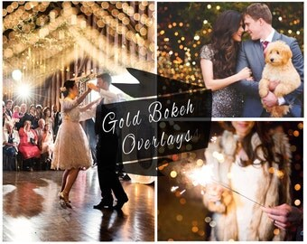 BOGOF, Gold Bokeh Photoshop Overlays, Digital Backdrop, Photo Overlays, Bokeh, Christmas Overlay, Wedding Overlays, Instant Download