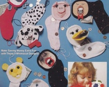 Money Stockings, Plastic Canvas Pattern The Needlecraft Shop 933721 Bunny Duck Fish & More Banks NEW