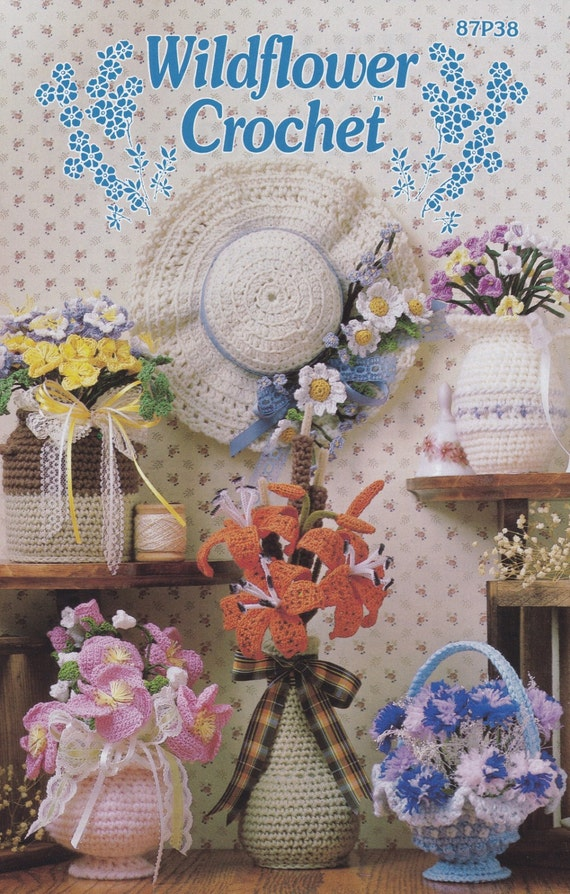 Annies Attic Crochet : Wildflower Crochet, Annies Attic Home Decor Pattern Club Leaflet 87P38 ...