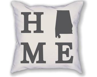 Alabama Home State Pillow