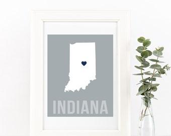 Indiana Home Print – Custom Indiana Print, Indiana Wall Art