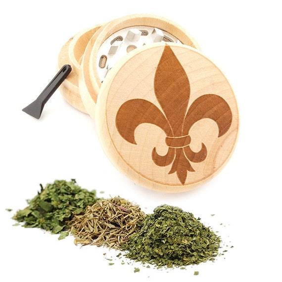 Fashion Design Engraved Premium Natural Wooden Grinder Item # PW050916-141
