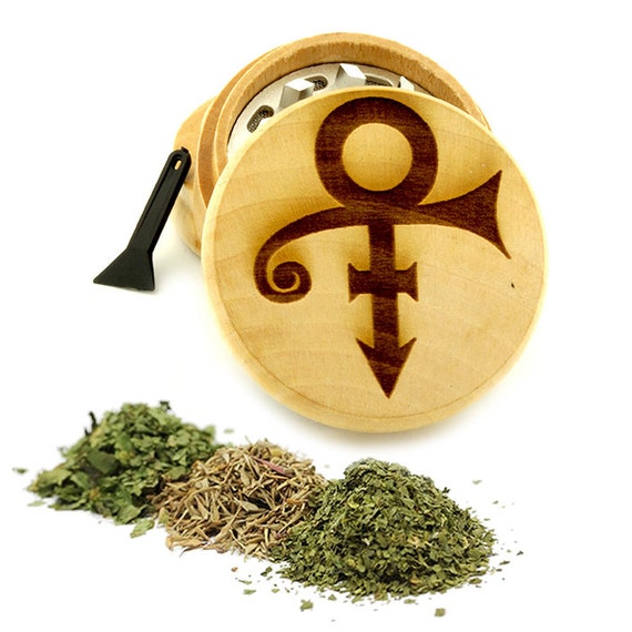 Prince Design Engraved Premium Natural Wooden Grinder Item # PW61716-7