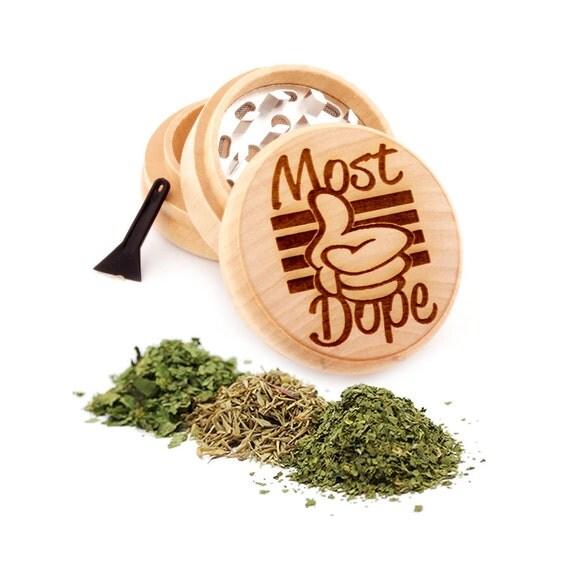 Best Engraved Premium Natural Wooden Grinder Item # PW91316-2