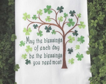 St. Patrick's Day - Irish Poem - Tea Towel