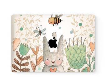 MacBook Top Front Lid Cover MacBook Decal MacBook Skin MacBook Sticker Air/Pro/Retina Touch Bar 11 12 13 15 17 inch Bunny Rabbit