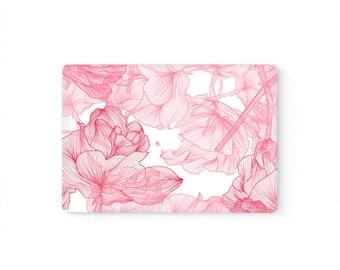 MacBook Top Front Lid Cover MacBook Decal MacBook Skin MacBook Sticker Air/Pro/Retina Touch Bar 11 12 13 15 17 inch | Elegant Roses