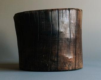 Charred Tree Stump Table / Stool