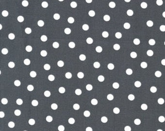 Remix, Grey Scattered Dot Fabric, Scattered Dots in Steel