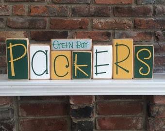 Green Bay Packers Decorative Blocks