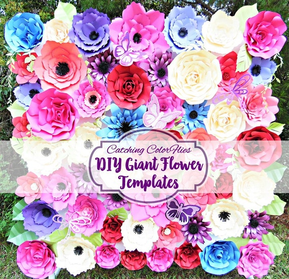giant paper flower templates diy paper flowers large flower patterns tutorials paper