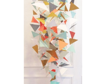 Geo Mobile // Geometric Mobile // Triangle Mobile // Paper Mobile // Nursery Decor // Baby Mobile