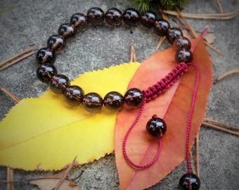 Quartz Fumé Tibetan bracelet