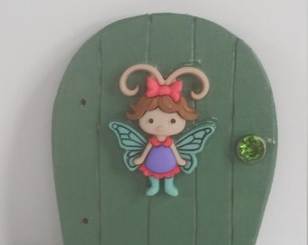 Tiny Fairy Door, Blue-Green