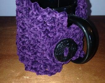 Purple suede mug hug
