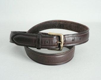 Mens Brown Leather Belt Size 44 Waist Polo Ralph Lauren