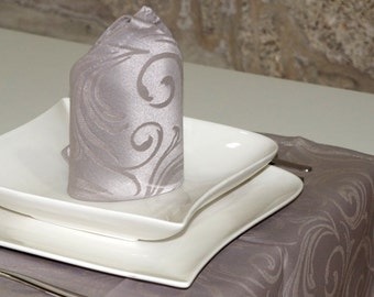 Luxury Silver Table Runner - Anti Stain Proof Resistant - Pack of 2 units - Ref. Lyon