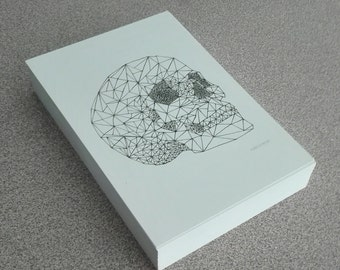 Skull geometric drawing • Wall Art (14.8 x 21.0 cm, 5.8 x 8.3 inches)