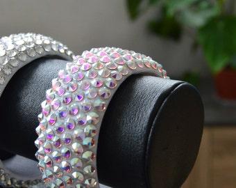 Bracelet Swarovski elements Crystal AB ss20