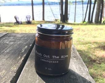 Lemongrass Beeswax Candle
