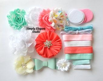 Headband Supply Kit, Baby Shower Headband Kit, Infant Headband Kit, DIY Headband, Kit #129