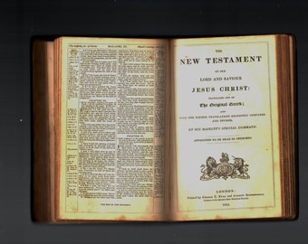 Antique Book London c1845 The Holy Bible