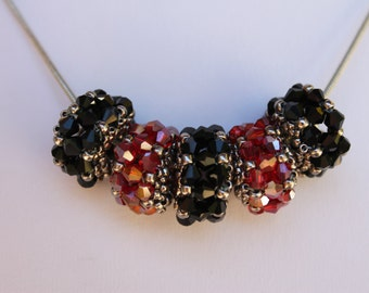 PDF Tutorial, crystal beaded bead pattern, beaded bead tutorial, beaded pattern