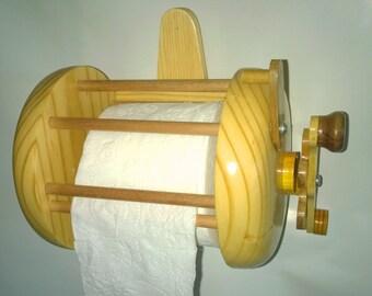 Fishing Reel Toilet Paper Holder