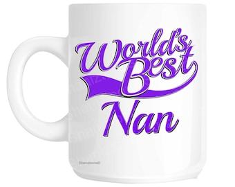 Nan World's Best Purple Mother's Day Novelty Gift Mug shan813