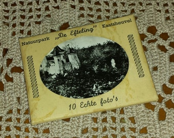 """Cover of 10 small pictures """"De Efteling Park"""" 1950s and 1960s vintage"""