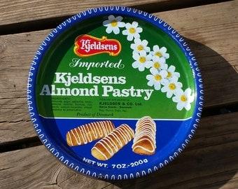 Cookies, Kjeldsens Almond Pastry vintage metal box