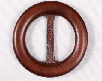 3 loops of 60mm, wood, Brown belt, ring (3038)