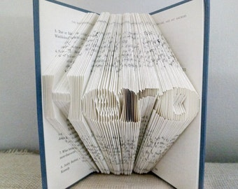 Gift for Soldier - Military Gift - Hero - Folded Book Art - Book Sculpture Gift for him - Gift for her - Appreciation Gift -