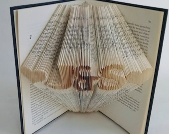 Anniversary Gift for Boyfriend/Girlfriend - Folded Book Sculpture - Paper Anniversary - Gift for her - Gift for him
