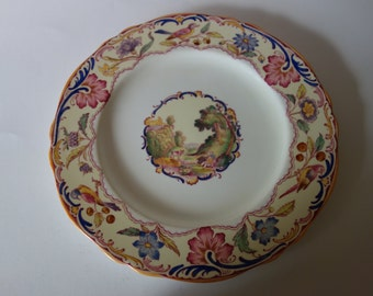 Spode's Gobelin scalloped edged dinner plate