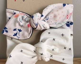 Set of two headbands, choose your fabric, custom headband for babies and toddlers