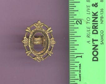 1970's vintage ring setting # 1, antique gold