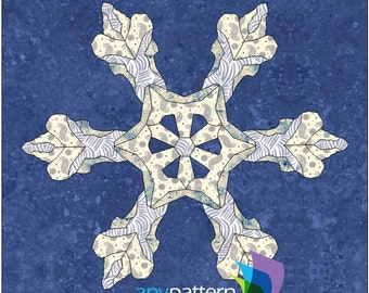 Snowflake Real Applique Quilt Pattern